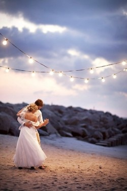 <3 this is perfection. this is a memory I would want from my wedding.... OMG @Kaitlin Hebert those string of lights!!