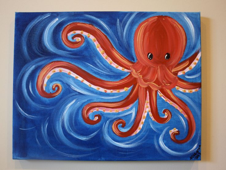 25 Best Ideas About Octopus Painting On Pinterest