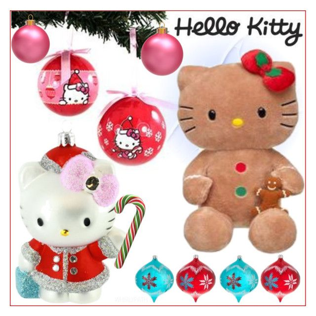 Hello Kitty Christmas! by whirlypath on Polyvore featuring interior, interiors, interior design, home, home decor and interior decorating