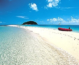 The beach on Great Keppel Island