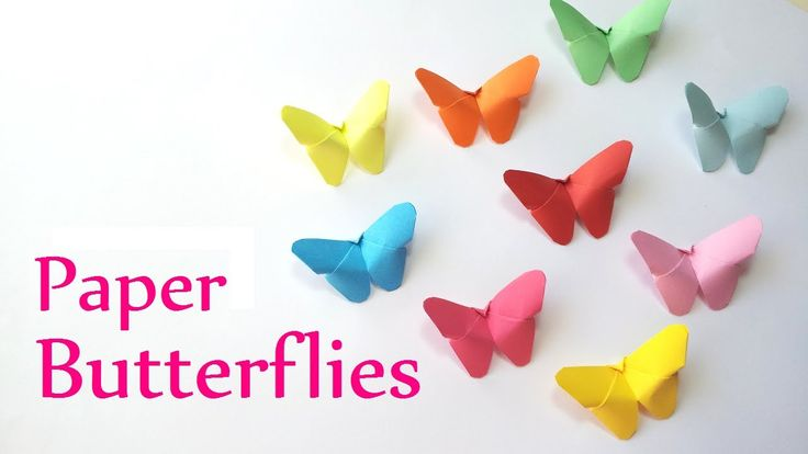 Easy and Simple DIY crafts: Paper BUTTERFLIES (very EASY) - Innova Crafts