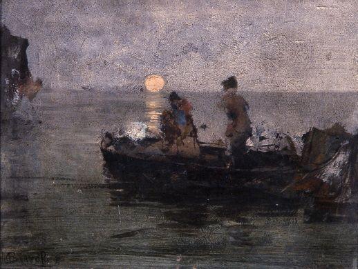 Bianchi Mosè, Luna a Chioggia, Galleria d'Arte Moderna Ricci Oddi, Piacenza