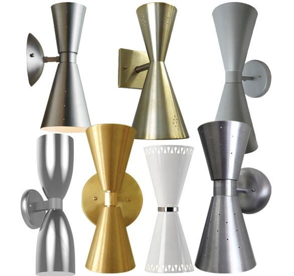 "Following up on more leads for sputnik chandeliers, we discovered what look to be six great sources for seven styles of midcentury style double cone lights aka ""bowtie"" sconces — all made in the USA and ranging in price from $79-$205 each. Surely there are original vintage fixtures like these cone lights out there to be found. But, if your lighting …"