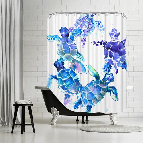 Found it at Wayfair - Sea Turtles Blue Shower Curtain