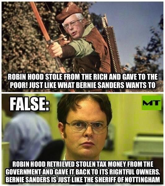 Bernie Sanders is a power hungry, elitist thief with a superiority complex. He thinks he knows better than you do about where your money should go. He thinks you shouldn't have the right to decide for yourself how to live your life. He wants to control Americans, and he wants to use YOUR money to do it!