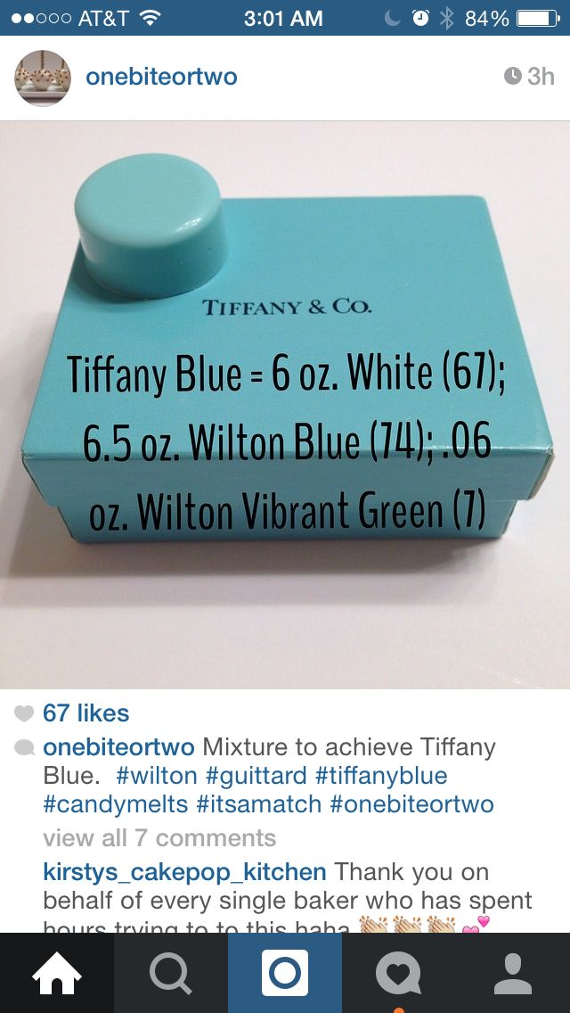 How to mix Tiffany blue with candy melts