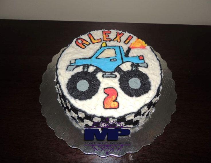Gâteau en crémage thème monster truck / Monster truck themed birthday