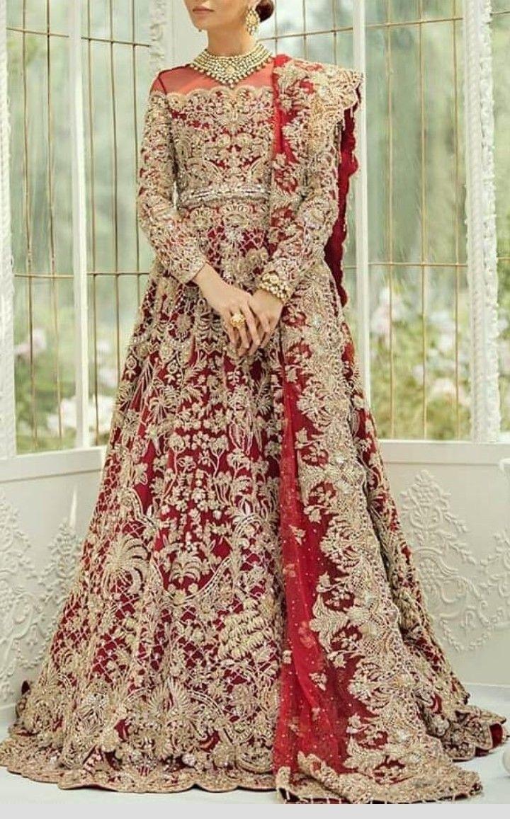 Pin by Sana Khan on Barat wear in 2020 Red bridal dress