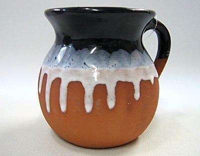 Jarrito de Barro Decorado / Chorreado Decorated Clay Mug Made in Mexico