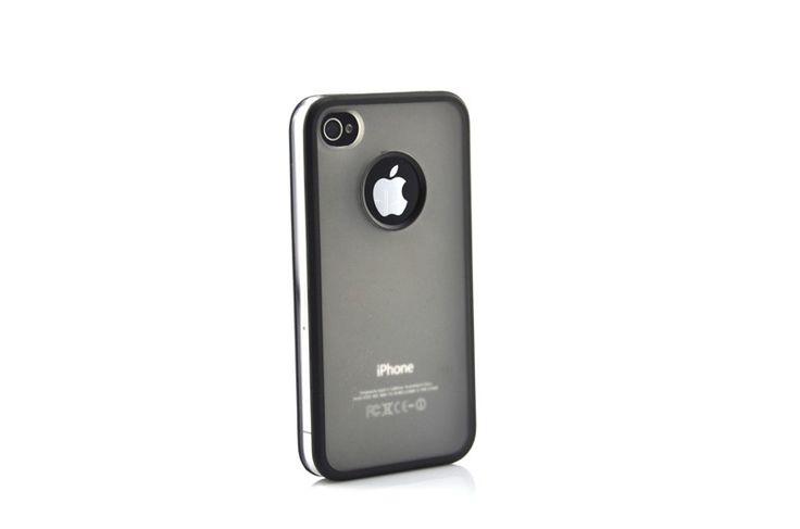 Hardcover Snap Case hoesje iPhone 4/4S logo transparant zwart