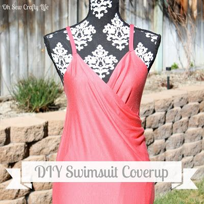 She calls it a 10 minute Swimsuit cover up, and I can see why, super cute and easy!  Oh Sew Crafty Life: Quick and Easy Swimsuit Coverup