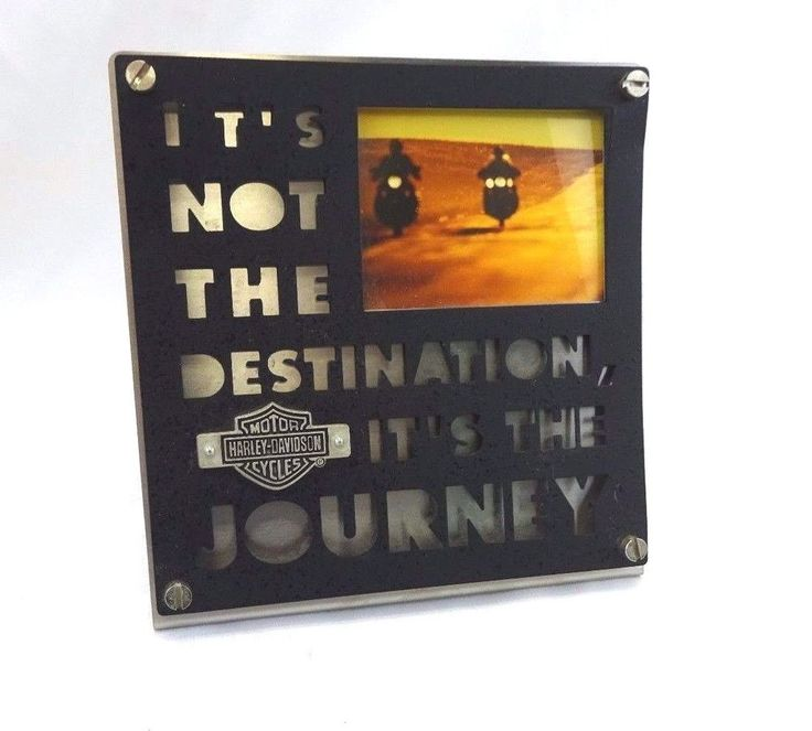 harley davidson picture frame its not the destination its the journey