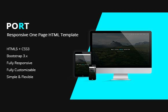 PORT - One Page HTML Template by RB Web Design on @creativemarket