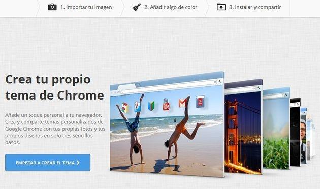 Mi Tema de Chrome, una aplicación para crear y compartir tus propios temas para Chrome