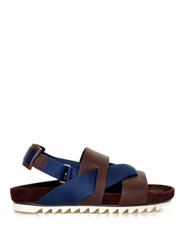 Saw-sole sling-back sandals | Lanvin | MATCHESFASHION.COM