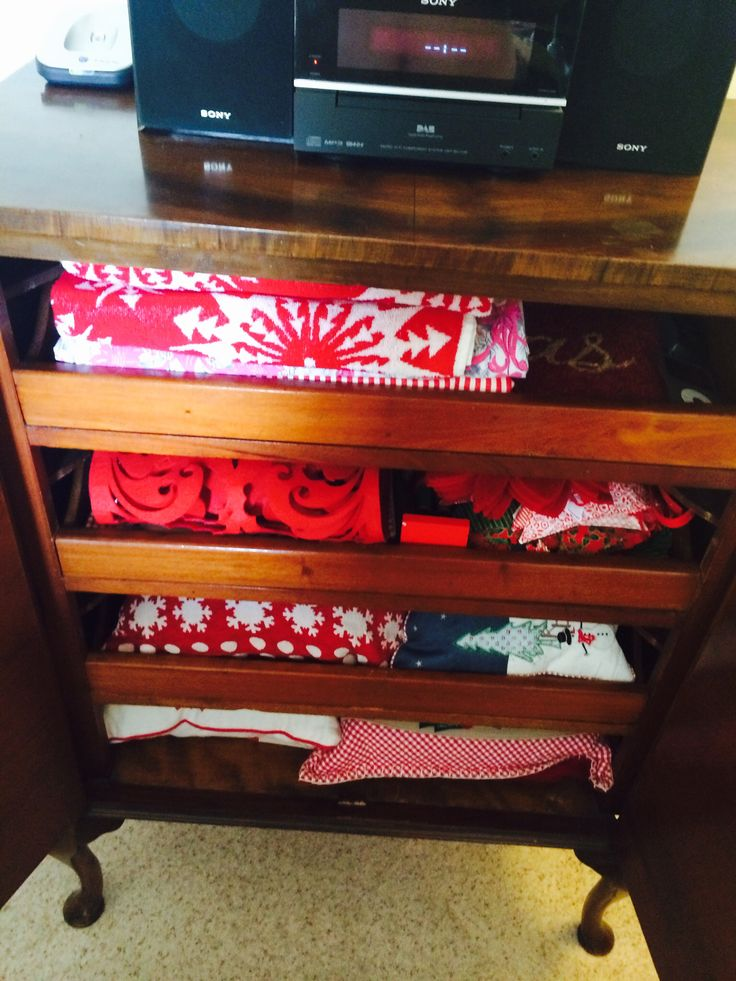 Filled with christmas linens