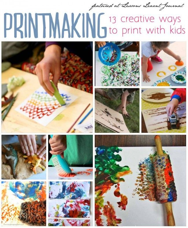 Printmaking for kids. Totally fun. ~ via Lessons Learnt Journal