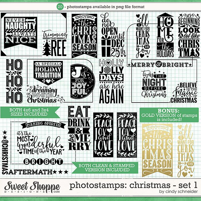 Cindy's Photostamps - Christmas: Set 1 by Cindy Schneider