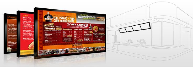 Digital Signage for Restaurant, Bars, Sports Clubs, Night Clubs, and Lounges