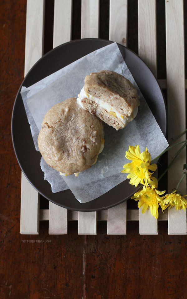 Bacon Biscuit and Sweet Corn Ice Cream Sandwiches