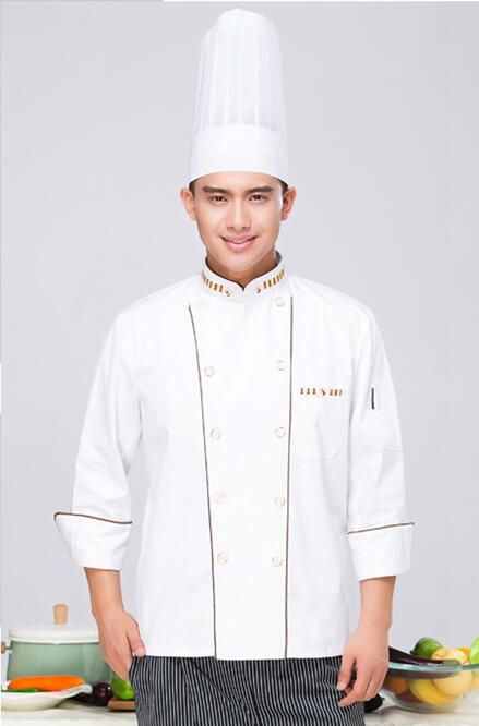 2017 New Summer Chef Uniform Long Sleeved Double Breasted Restaurant Cook Uniforms Work Wear Hotel Cook Clothes Lxx20 #Affiliate