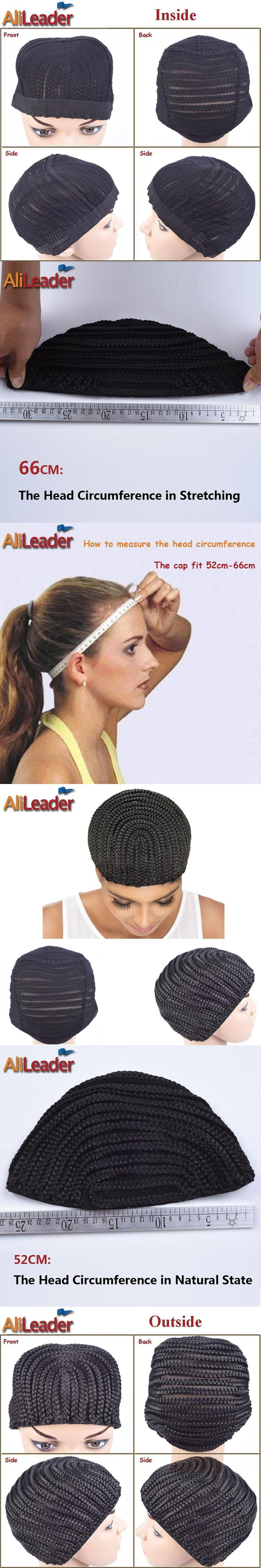 Adjustable Stretching Braided Cornrow Wig Cap For Making Wigs Glueless Wig Making Cap Mesh Hair Net Cornrows Wig Caps 2Pcs/Lot