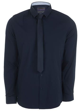 Navy Slim Shirt