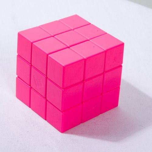Pink Rubik's cube