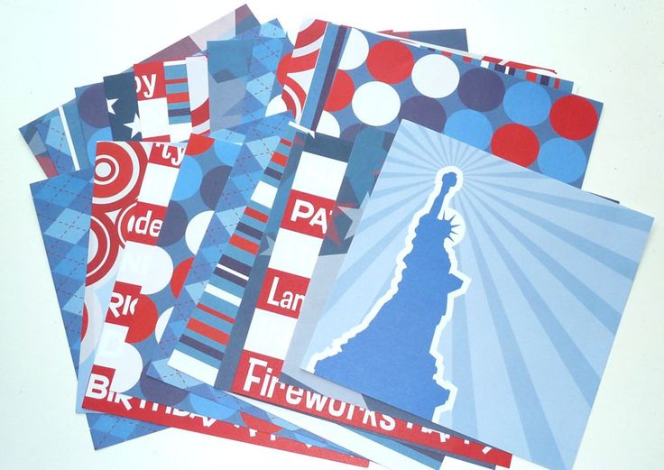 Stock Paper Independence Day Card  24 Sheets by SouthamptonCreations on Etsy