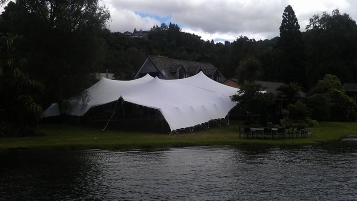 Two tents joined by the water