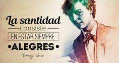 """""""¡Quiero ser santo!"""", solía decir Santo Domingo Savio, cuya fiesta se celebra cada 6 de mayo. Es Patrono de los niños cantores y también de las embarazadas por haber cumplido en su vida una misión …"""