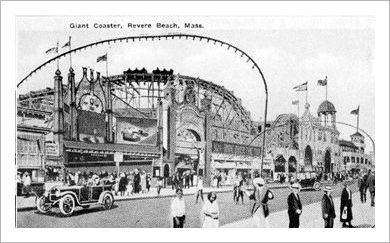 History Overview Of Revere Beach, MA and Photo of Stein & Goldstein Rough Rider carousel.