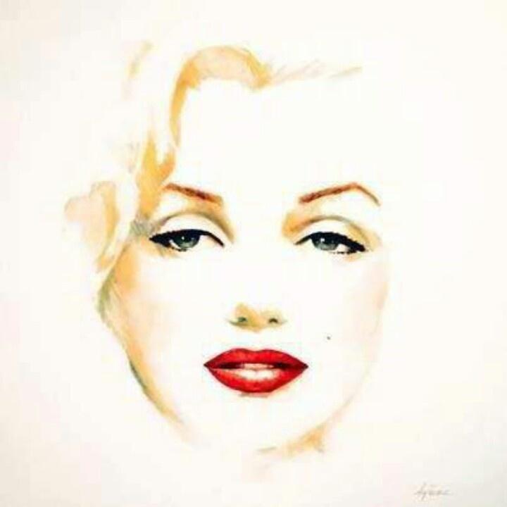 Beautiful Marilyn painting