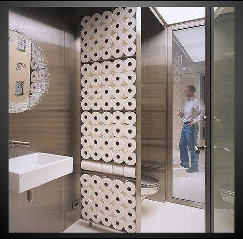Hahaha, relief!: Ideas, Bathroom Wall, Dreams Bathroom, Interiors Design, Toilets Paper, Rooms Dividers, Rolls, Paper Storage, Toilet Paper