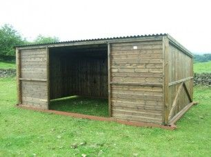 Pony and Livestock Field Shelter 10' x 18' on metal skids