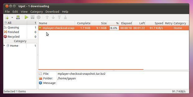 Gerenciador de download: Instale o uGet no Ubuntu