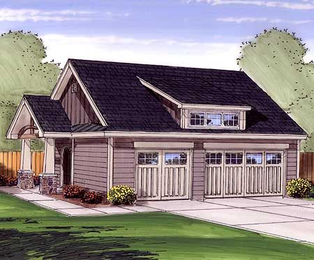 Plan 62470dj garage with shed dormer detail carriage for Garage with dormers