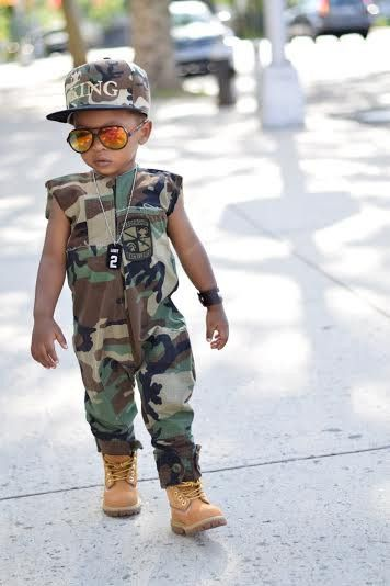 Distressed Camouflage Jumpsuit UnisexToddler/Kids by King and Lola