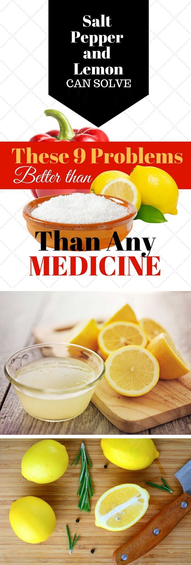 Salt, Pepper and Lemon Can Solve These 9 Problems Better Than Any Medicine