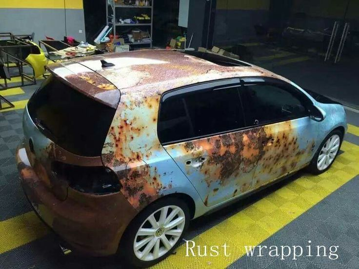 volkswagen golf rust wrapp