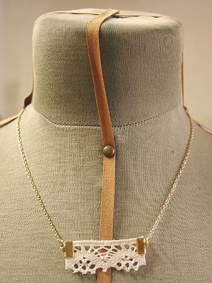 Onnia Fabric necklace.