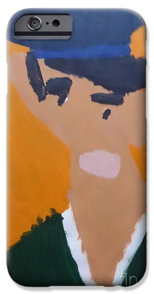 IPhone Case featuring the painting Young Man With A Hat 2014 - After Vincent Van Gogh by Patrick Francis