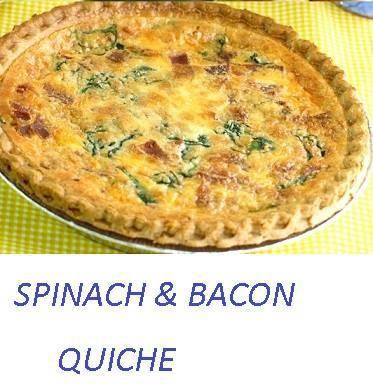 Rainbow Gospel Radio | Spinach and Bacon Quiche