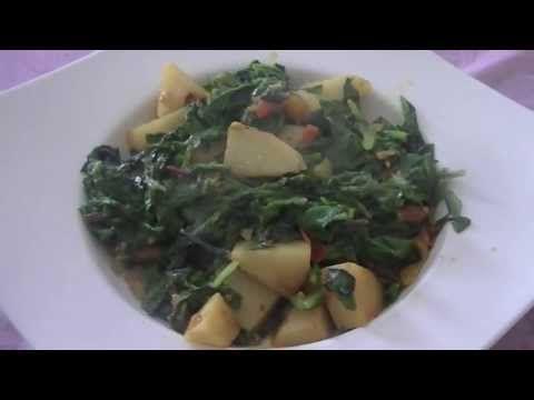 Mixed Greens Masala, Indian vegetarian recipe