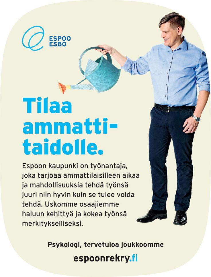 Espoon rekry -ilmeellä tehty ilmoitus / Mainostoimisto RED / Kevät 2014