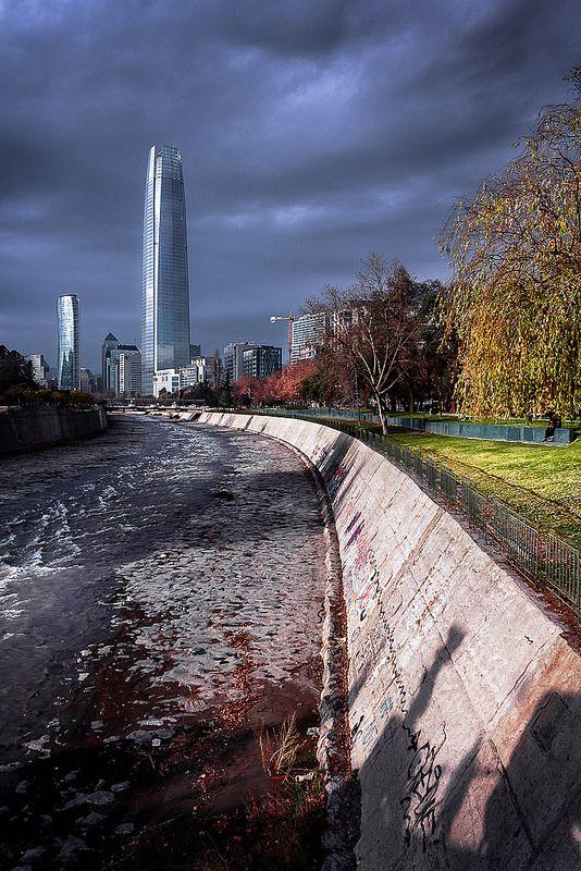 La divina Providencia. Río mapocho, Santiago de Chile