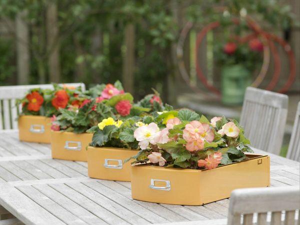 Re-Purposed Drawer Garden Pots