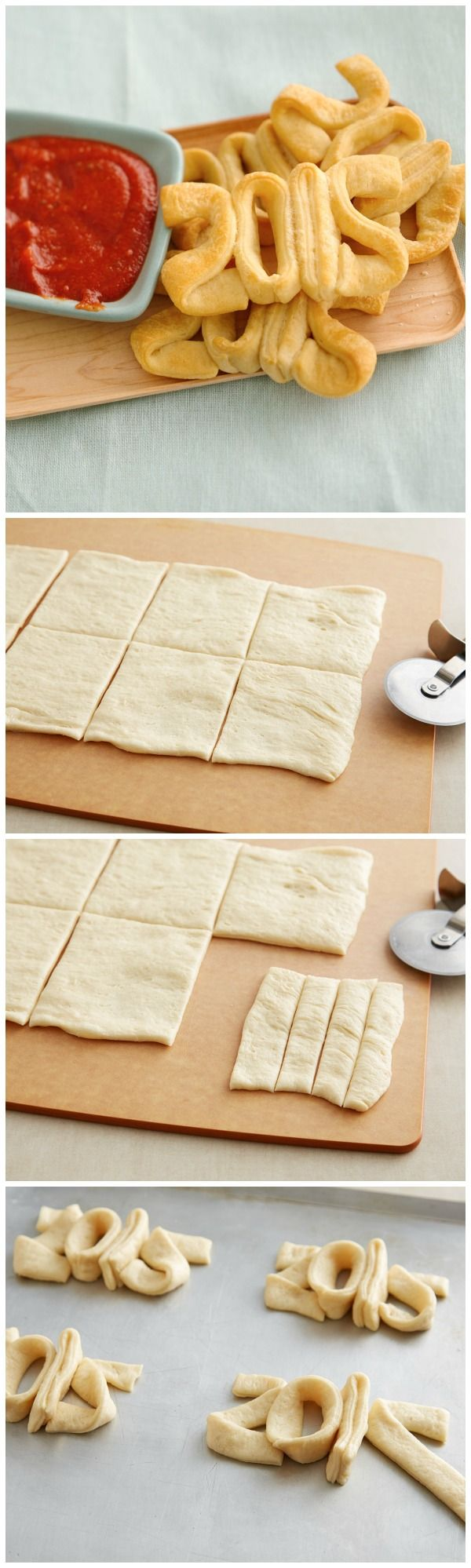 Get the kids in the kitchen on NYE to whip up a fun appetizer to ring in the new year with Pillsbury crescent dough! Great idea for party apps!