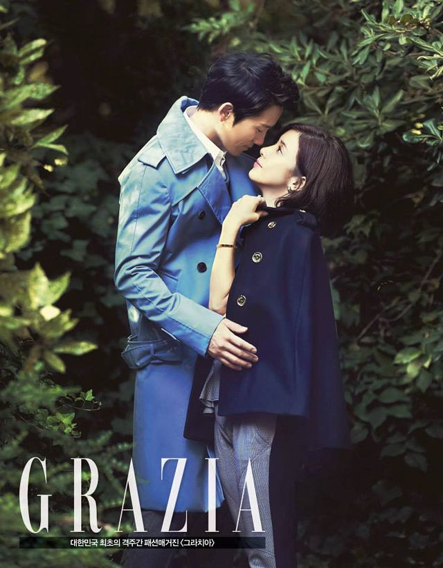Ji Sung's & Lee Bo Young's 3rd Batch of Pre-Wedding Shots From GRAZIA Korea's October 2013 Issue