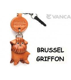 Brussel Griffon Leather Dog Earphone Jack Accessory
